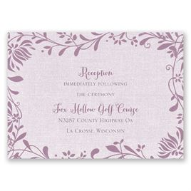 Flowers and Linen - Reception Card