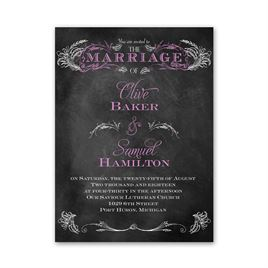 Chalkboard Wedding Invitations: 