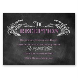 Wheat Flourish - Reception Card