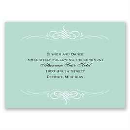 Sweet Sophistication - Reception Card