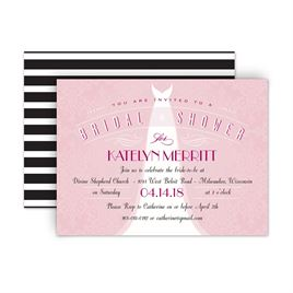 bridal shower invitations ultra classy petite bridal shower invitation