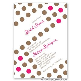 Polka Dot Party - Bridal Shower Invitation