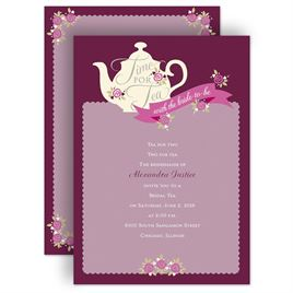Time for tea bridal shower invitation bridal shower invitations time for tea bridal shower invitation filmwisefo