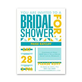 Neo Circus - Petite Bridal Shower Invitation