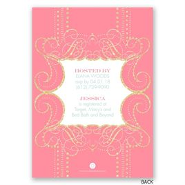 Glamorous - Faux Glitter - Bridal Shower Invitation