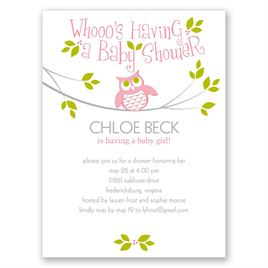 Guess Whooo - Petite Baby Shower Invitation
