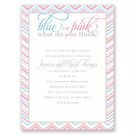 Sweet Stripes - Petite Baby Shower Invitation