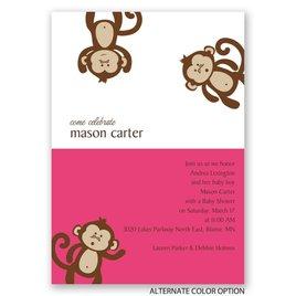 Monkey Business - Baby Shower Invitation