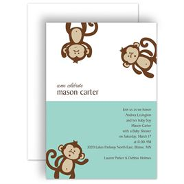 Jungle theme baby shower invitations invitations by dawn jungle theme baby shower invitations monkey business baby shower invitation filmwisefo Image collections