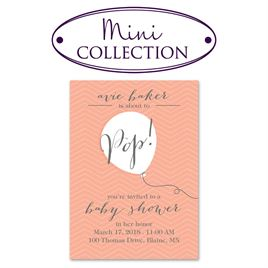 Pop! - Mini Baby Shower Invitation