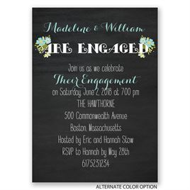 Budding News - Mini Engagement Party Invitation