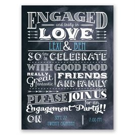 Truly In Love - Petite Engagement Party Invitation