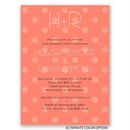 Polka Dots - Petite Engagement Party Invitation