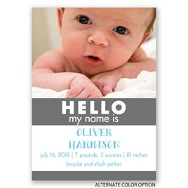 HELLO - Mini Birth Announcement