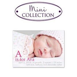 Birth Announcements: Love for Letters Mini Birth Announcement