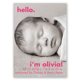 Simple Expression - Mini Birth Announcement