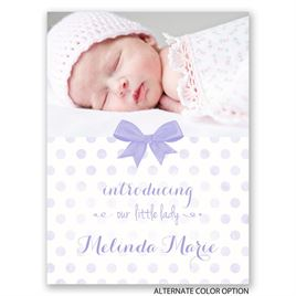 Faded Polka Dots - Petite Birth Announcement