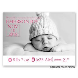 Little Details - Petite Birth Announcement