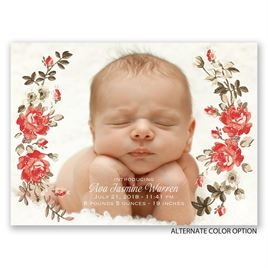 Wild Rose - Petite Birth Announcement