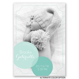 Beautiful Bubbles - Birth Announcement