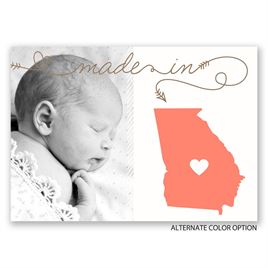 Home State - Birth Announcement