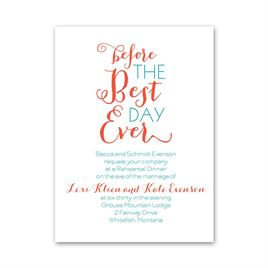 Day Before - Petite Rehearsal Dinner Invitation