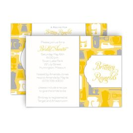Bridal Shower Invitations: Best Recipes Petite Bridal Shower Invitation