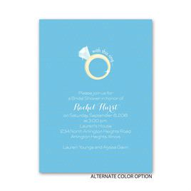 With this Ring - Petite Bridal Shower Invitation