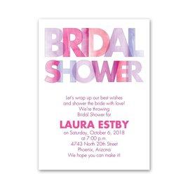 Ombre Pink - Petite Bridal Shower Invitation