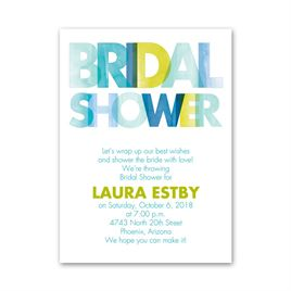 Ombre Blue - Petite Bridal Shower Invitation