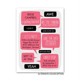 Talk to Me - Petite Bridal Shower Invitation