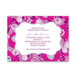 Fuchsia Floral - Petite Bridal Shower Invitation