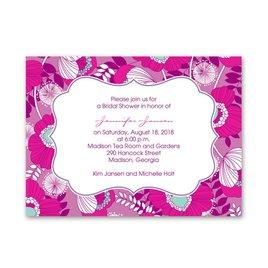 Fuchsia Floral - Petite Bridal Shower Invitation