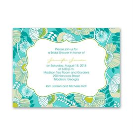Peacock Floral - Petite Bridal Shower Invitation