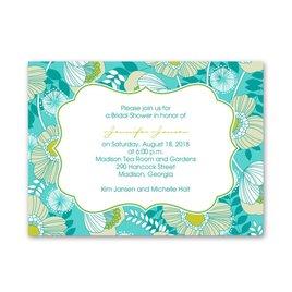Peacock Floral - Petite Bridal Shower Invitation