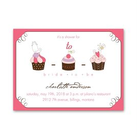 Pretty Cupcakes - Petite Bridal Shower Invitation