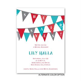 Pretty Pennants - Petite Bridal Shower Invitation
