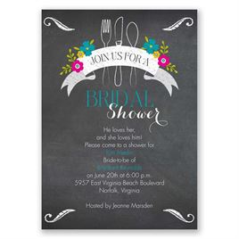 First We Eat - Bridal Shower Invitation