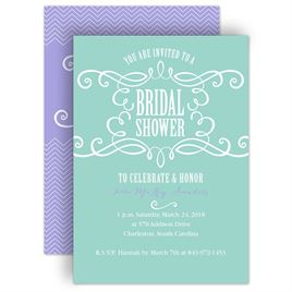 bridal shower invitations fab flourish bridal shower invitation