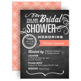 bridal shower invitations chalkboard poster bridal shower invitation - Wedding Shower Invites