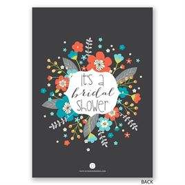 Floral Explosion - Bridal Shower Invitation