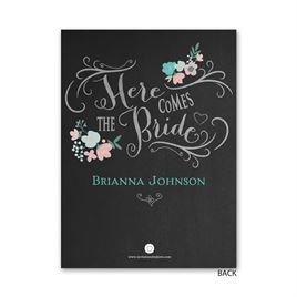 Chalkboard Floral - Petite Bridal Shower Invitation