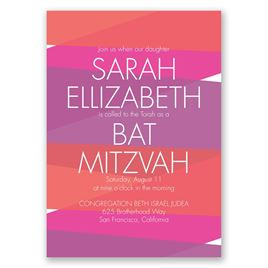 Bold Choice - Amethyst - Mitzvah Invitation