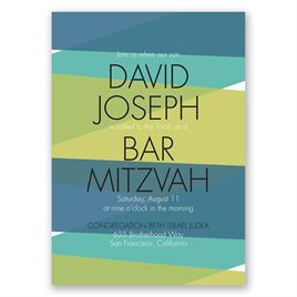 Bold Choice - Peacock - Mitzvah Invitation