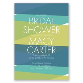 Crazy for Color - Peacock - Bridal Shower Invitation