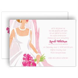 bridal shower invitations beautiful bride bridal shower invitation
