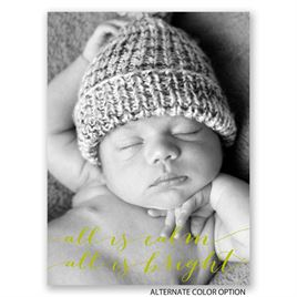 All Is Calm - Petite Birth Announcement