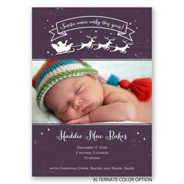 Christmas Cheer - Birth Announcement