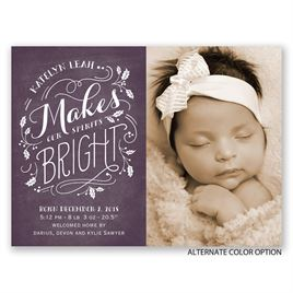 Bright Spirits - Petite Birth Announcement