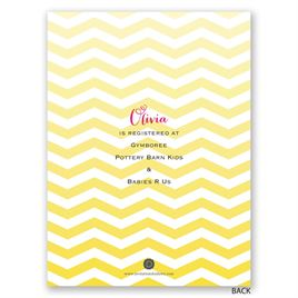 Busy Bees - Petite Baby Shower Invitation